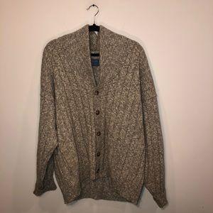 Pendleton Wool Cable Knit Cardigan
